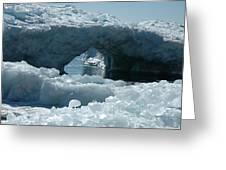 Lake Superior Ice Bridge Greeting Card