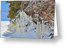 Lake Superior Icicle Shoreline Greeting Card