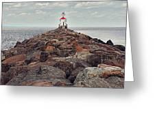 Lake Superior Light House Greeting Card