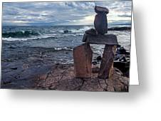 Show Me The Way - Lake Superior Rock Stack Greeting Card