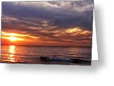 Lake Superior Sunset Panorama Greeting Card