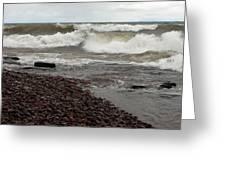 Lake Superior Surf Greeting Card
