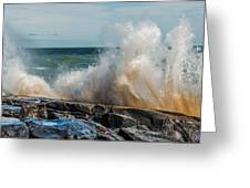 Lake Superior Waves Greeting Card