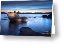 Lake Tahoe Bonsai Rock Greeting Card