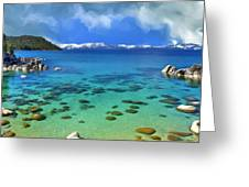 Lake Tahoe Cove Greeting Card