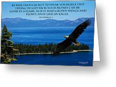 Lake Tahoe Eagle Proverbs Greeting Card