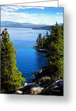 Lake Tahoe From The Rubicon Trail Greeting Card