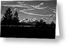 Lake Tahoe Just After Sunset Greeting Card