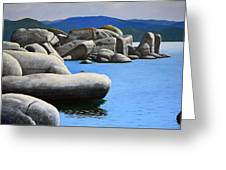 Lake Tahoe Rocky Cove Greeting Card by Frank Wilson