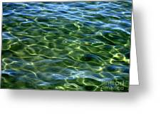 Lake Tahoe Swirls Abstract Greeting Card