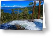 Lake Tahoe Waterfall Greeting Card
