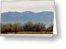 Lake Trees Mountains And Sky Greeting Card