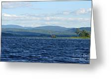 Lake Umbagog Choppy Waters Greeting Card