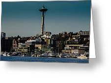 Lake Union Seattle Skyline Greeting Card