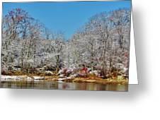 Lake Welch Snow Greeting Card