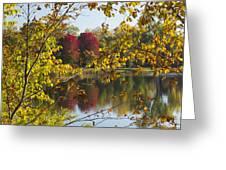 Lake Winona Autumn 15 Greeting Card