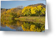 Lake Winona Autumn 8 Greeting Card