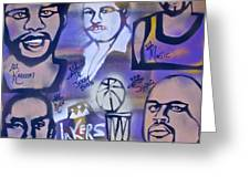 Lakers Love Jerry Buss 2 Greeting Card by Tony B Conscious