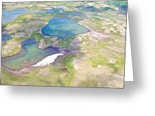 Lakes From The Seaplane In Katmai National Preserve-alaska Greeting Card
