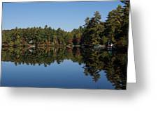 Lakeside Cottage Living - Reflecting On Relaxation Greeting Card