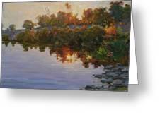 Lakeside Evening Greeting Card