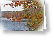 Lakeside In The Fall Greeting Card