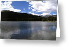 Mountain Lakeside Lunch Greeting Card