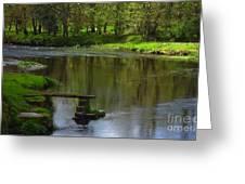 Lakeside Seat. Greeting Card