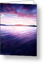 Lakeside Sunset Greeting Card by Shana Rowe Jackson