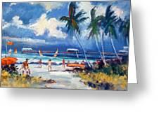 Lakeworth Beach Sketch Greeting Card