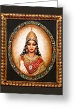Lakshmi Goddess Of Abundance Greeting Card
