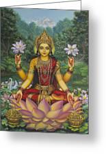 Lakshmi Greeting Card by Vrindavan Das