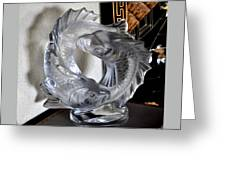 Lalique Pisces Double Fish Greeting Card