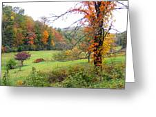 Lamance Valley In The Fall Greeting Card