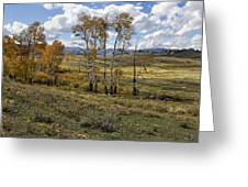 Lamar Valley In The Fall - Yellowstone Greeting Card