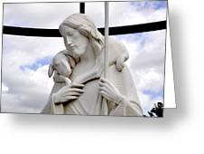Lamb Of God Jesus Christ Torso Greeting Card