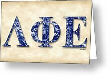 Lambda Phi Epsilon - Parchment Greeting Card
