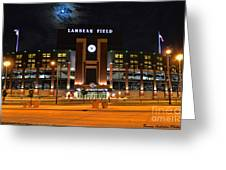 Lambeau Field At Night Greeting Card by Tommy Anderson