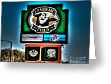 Lambeau Field Entrance Greeting Card