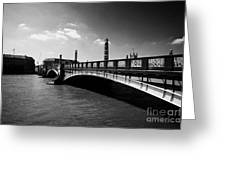 lambeth bridge over the river thames central London England UK Greeting Card