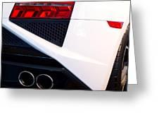 Lamborghini Gallardo Tail Light Pipes Greeting Card