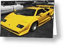 Lamborghini Countach Greeting Card