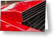 Lamborghini Countach Intake Greeting Card
