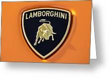 Lamborghini Emblem -0525c55 Greeting Card