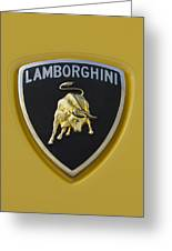 Lamborghini Emblem 2 Greeting Card