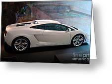 Lamborghini Gallardo Lp550-2 Side View Greeting Card