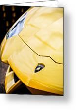 Lamborghini Hood Emblem -1661c Greeting Card
