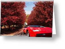 Lamborghini Maple Lane Big House Greeting Card