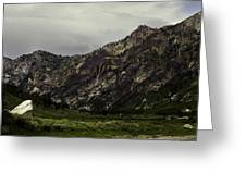 Lamoille Canyon End Greeting Card