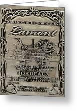 Lamont Grand Vin De Bordeaux  Greeting Card